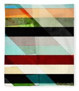 Colorful Textured Abstract Fleece Blanket