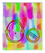Colorful Texturized Alphabet Oo Fleece Blanket