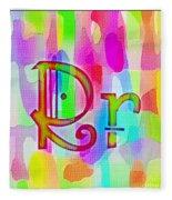 Colorful Texturized Alphabet Rr Fleece Blanket