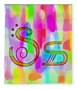 Colorful Texturized Alphabet Ss Fleece Blanket
