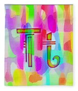 Colorful Texturized Alphabet Tt Fleece Blanket