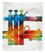 Colorful Trumpet Art Color Fusion By Sharon Cummings Fleece Blanket
