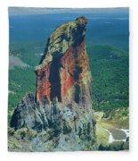 105830-colorful Volcanic Plug Fleece Blanket