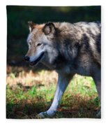 Colorful Wolf Fleece Blanket