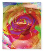 Colorfull Rose Fleece Blanket