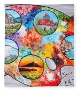 Colori Di Sicilia Fleece Blanket