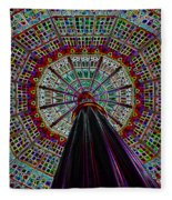 Colorized Dome Fleece Blanket