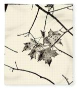 Colorless Autumn Fleece Blanket