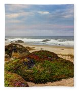 Colors And Texures Of The California Coast Fleece Blanket