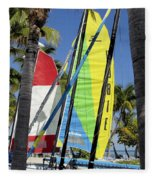 Key West Sail Colors Fleece Blanket