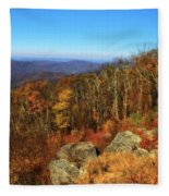 Colors Of Autumn In Shenandoah National Park Fleece Blanket