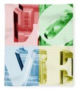 Colors Of Love Philadelphia Pa Fleece Blanket