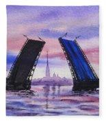 Colors Of Russia Bridges Of Saint Petersburg Fleece Blanket