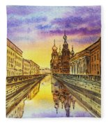 Colors Of Russia St Petersburg Cathedral I Fleece Blanket