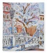 Colors Of Russia Winter In Saint Petersburg Fleece Blanket