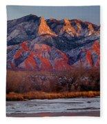 214501-colors Of Sandia Crest  Fleece Blanket