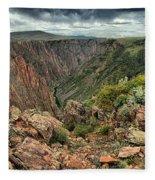 Colors Of The Black Canyon Fleece Blanket