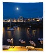 Cala Corb In Es Castell - Minorca - Colors Of The Moonlight   Fleece Blanket