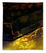 Colors Of The Sound Gold Fleece Blanket