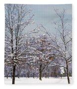 Colors Of Winter Fleece Blanket