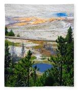 Colors Of Yellowstone Fleece Blanket