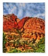 Colors Of Zion Fleece Blanket