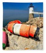 Colors On The Rocks Fleece Blanket