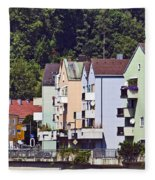 Colorul Houses In Germany Fleece Blanket