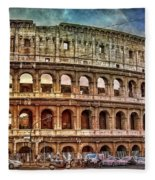 Colosseum Rome Fleece Blanket