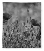 Colour Blind Poppies 2 Fleece Blanket