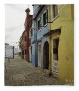 Coloured Houses In Burano Fleece Blanket