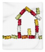 Coloured Jellybabies Formed As A House Fleece Blanket