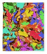 Coloured Oak Leaves By M.l.d. Moerings 2009 Fleece Blanket