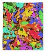 Coloured Oak Leaves By M.l.d. Moerings 2009 Fleece Blanket