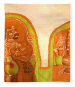 Coloured Reliefs Fleece Blanket