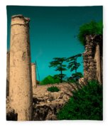 Colourful Ruins Fleece Blanket