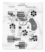 Colt Revolver Patent Art 3  -  1881  Fleece Blanket