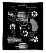 Colt Revolver Patent Art 2  -  1881 Fleece Blanket