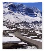 Columbia Icefields, Alberta - Panorama Fleece Blanket