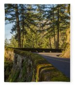 Columbia River Gorge Highway Fleece Blanket