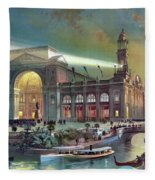 Columbian Expo, Electricity Building Fleece Blanket