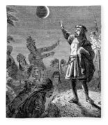 Columbus And The Lunar Eclipse, 1504 Fleece Blanket