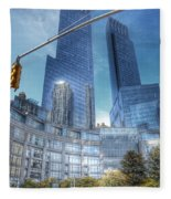 New York - Columbus Circle - Time Warner Center Fleece Blanket