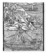 Columbus Hispaniola, 1492 Fleece Blanket