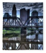 Columbus Ohio Downtown IIi Fleece Blanket