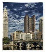 Columbus Ohio Skyline Fleece Blanket
