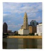 Columbus Skyline Fleece Blanket