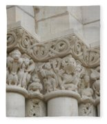Column Relief Abbey Fontevraud  Fleece Blanket