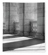 Columns And Shadows Fleece Blanket