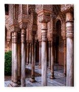 Columns Of The Court Of The Lions Fleece Blanket